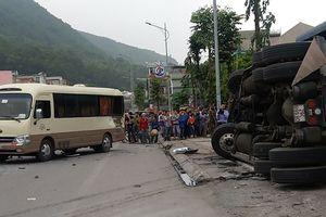 Container mất lái đè chết 2 người tại ngã ba 'tử thần' ở Quảng Ninh