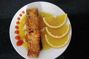 Cá hồi sốt cam vừa thơm vừa ngọt, cả nhà đều mê tít