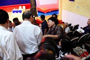 Cử tri Thủ Thiêm dự buổi tiếp xúc với Bí thư Nguyễn Thiện Nhân