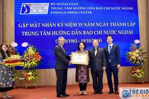 Trung tâm Hướng dẫn Báo chí nước ngoài kỷ niệm 35 năm thành lập