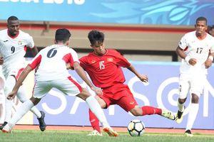 U.19 Việt Nam thua trận mở màn châu Á: Đánh mất sự tự tin