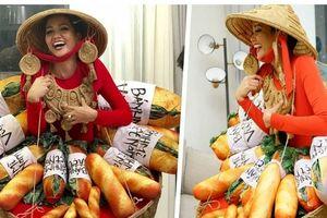 Hoa hậu H'Hen Niê gây chú ý khi diện trang phục toàn bánh mì