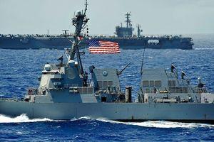 Dàn tàu chiến Mỹ sắp lũ lượt đi qua eo biển Đài Loan?