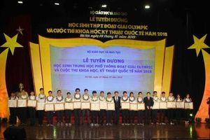 Tuyên dương 33 học sinh đoạt giải Olympic quốc tế năm 2018