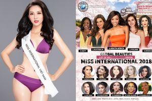 Chưa nhập cuộc, Thùy Tiên đã 'công phá' bảng xếp hạng ở Hoa hậu Quốc tế 2018