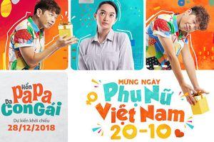 Thái Hòa, Kaity Nguyễn và dàn diễn viên 'Hồn Papa, da con gái' chúc mừng ngày Phụ nữ Việt Nam 20/10