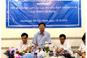 Đại hội trù bị thành lập CLB nhà báo Thành Nam tại TP.HCM