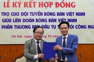 Bóng bàn Việt Nam nhận hợp đồng tài trợ mới