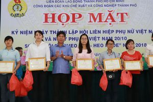 Công đoàn các KCX-KCN TP HCM: Tuyên dương 50 cán bộ nữ công tiêu biểu