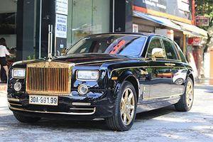 'Soi' Rolls-Royce Phantom rồng vàng, 35 tỷ tại Hải Phòng