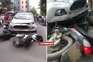 Ô tô chạy tốc độ cao gây tai nạn liên hoàn tại Hà Nội