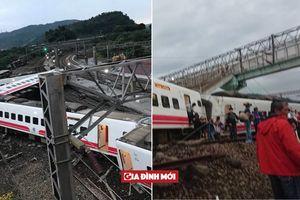 Tàu hỏa trật đường ray tại Đài Loan: Ít nhất 17 người chết, 121 người bị thương