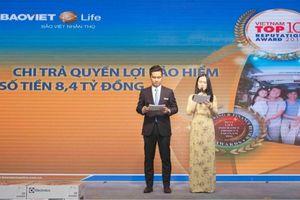 Một trong những trường hợp chi trả bảo hiểm lớn nhất lịch sử Bảo Việt Nhân Thọ vừa được trao