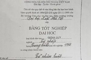 Thẩm phán TAND TP. Thái Nguyên dùng bằng giả thi đại học: 'Bác' đề nghị phục hồi bằng cử nhân luật