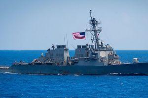 Mỹ tăng cường tàu chiến qua eo biển Đài Loan