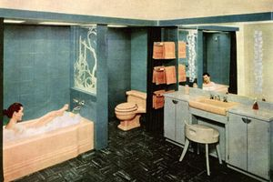 Phòng tắm hạng sang thập niên 1950 trông như thế nào?