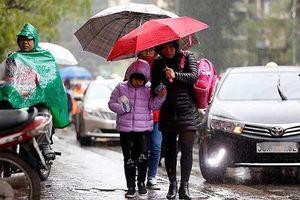 Gió mùa Đông Bắc đang đi sâu vào Bắc Bộ, nhiều nơi xảy ra tố lốc, sét, mưa đá