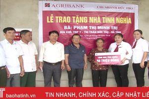 Agribank Đức Thọ bàn giao nhà tình nghĩa cho hộ nghèo