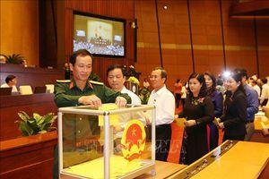 Những hình ảnh đại biểu Quốc hội bỏ phiếu bầu Chủ tịch nước