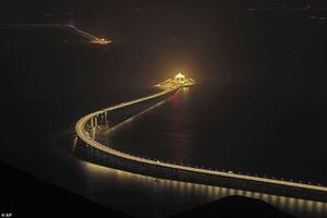 Chùm ảnh cầu vượt biển hoành tráng, dài nhất thế giới của Trung Quốc