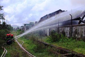 Bình Định: Cháy lớn bất thường tại Công ty TNHH Nông Trại Xanh