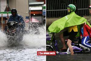 Sau 15 phút mưa, nhiều khu vực ở TP HCM chìm trong biển nước