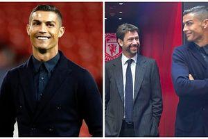 Ronaldo diện vest đẹp như nam thần ngày trở về 'nhà cũ'
