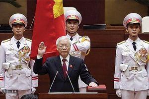 Chủ tịch nước CHXHCN Việt Nam thực hiện nghi thức tuyên thệ nhậm chức