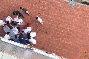 Bệnh nhân nhảy từ tầng 6 bệnh viện Đức Giang xuống đất