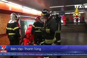 Italy: Sập thang cuốn ở nhà ga làm hơn 20 người bị thương