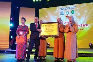 Chùa Phật Quang đón nhận Bằng bảo trợ của Unesco
