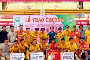 Khí Cà Mau bảo vệ thành công ngôi vô địch giải Futsal Truyền hình Đồng Tháp 2018
