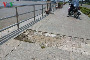 Công trình bờ kè gần 400 tỷ đồng ở Tiền Giang vừa xong đã hỏng