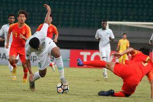Thua đau phút cuối, U19 Trung Quốc bị loại khỏi U19 châu Á 2018