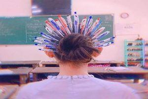 Chết cười với tạo hình của học sinh trong vai 'quý phi bút bi'