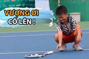 Những giọt nước mắt của tay vợt 9 tuổi