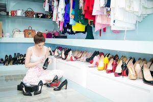 Kho giày hàng hiệu 'khủng' của nữ hoàng nội y Ngọc Trinh