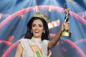 Người đẹp Paraguay ngất khi nghe công bố đăng quang Hoa hậu Hòa bình Quốc tế 2018