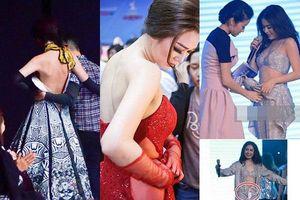 Loạt sự cố rách váy, bung cúc áo... khiến sao Việt muốn 'độn thổ' vì lộ vùng nhạy cảm trên sân khấu
