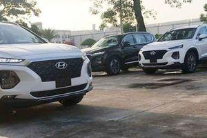 Hyundai Santa Fe 2019 bất ngờ xuất hiện tại nhà máy của Hyundai Thành Công ở Ninh Bình