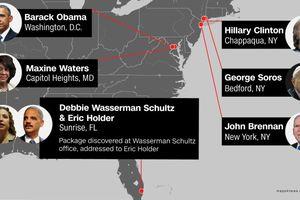 CNN, ông Obama, nhà Clinton và hàng loạt quan chức Mỹ nhận được bưu kiện chứa bom