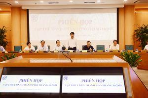 Tập thể UBND thành phố Hà Nội họp xem xét nhiều nội dung quan trọng