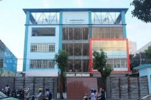 Tháo dỡ một phần thiết bị trường học xây dựng không phép ở Đồng Nai