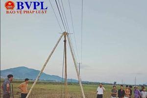 Thi công cột Cáp viễn thông, 4 công nhân bị điện giật tử vong