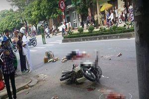 Người đàn ông đi xe máy tử vong tại chỗ, thi thể không còn nguyên vẹn sau va chạm với ô tô tải