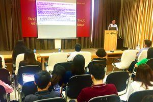 Tuyên truyền công tác thông tin đối ngoại tại Trường Đại học Ngoại ngữ