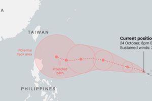 Bão Yutu đang hướng vào biển Đông