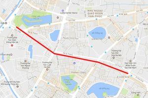Phê duyệt dự án tuyến đường Hoàng Cầu - Voi Phục