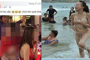 Ngoài 2 cô gái tắm truồng ở biển Bình Định, dân mạng cũng hết vía với loạt thiếu nữ chuyển giới lột đồ giữa phố