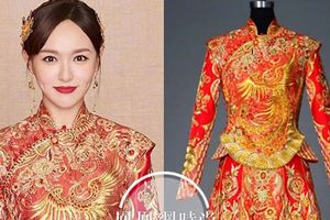 Cận cảnh váy cưới được làm trong hơn 6 tháng của Đường Yên